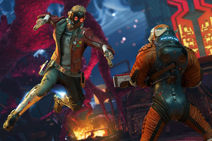 Guardians Of The Galaxy Game Star Lord Wallpaper