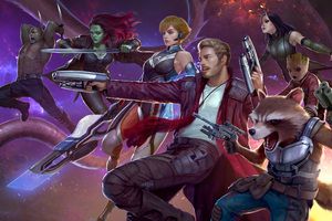 Guardians Of The Galaxy Marvel Future Fight Wallpaper