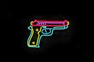 Gun Glow Minimal 8k Wallpaper