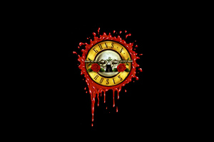 Guns N Roses Dark Minimal 4k Wallpaper