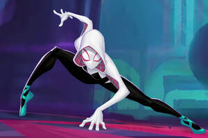 Gwen Stacy In SpiderMan Into The Spider Verse