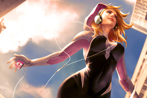 Gwen Stacy Music Girl Wallpaper