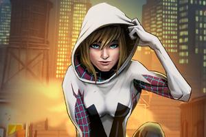 Gwen Stacy Spider Girl Art