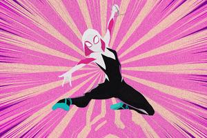 Gwen Stacy Spider Man Into The Spider Verse Arts