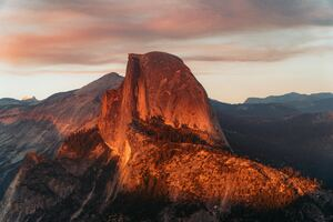 Half Dome Granite Dome In California
