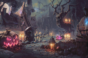 Halloween Artwork Wallpaper