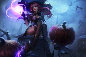 Halloween Fantasy Witch 4k Wallpaper