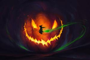 Halloween Witch 4k