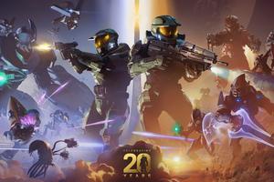 Halo 20th Anniversary 8k Wallpaper