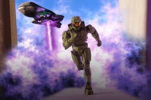 Halo Armor Outrunning Death Wallpaper