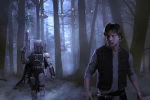 Han Solo Mandalorian 4kart Wallpaper