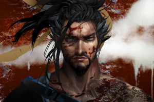 Hanzo Overwatch Art 4k Wallpaper