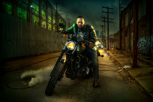 Harley Davidson Night Rider Wallpaper