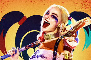 Harley Quinn 8k Key Art