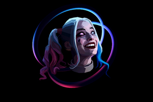 Harley Quinn Abstract Art Wallpaper