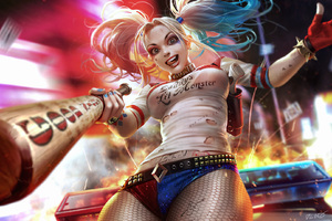 Harley Quinn Amazing Art Wallpaper