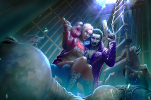 Harley Quinn And Joker4k