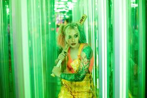 Harley Quinn Cosplay Girl With Bat 4k Wallpaper