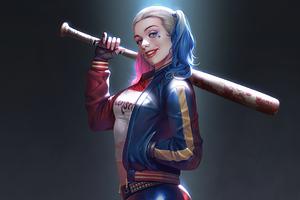 Harley Quinn Fanart Smiling 4k Wallpaper
