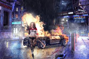 Harley Quinn Gotham City 4k