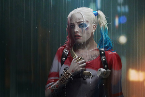 Harley Quinn In Rain Wallpaper