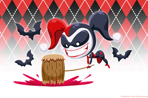 Harley Quinn Killing Bats