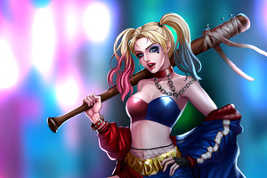 Harley Quinn Latest Artwork Wallpaper