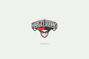 Harley Quinn Minimal Logo 4k Wallpaper