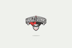 Harley Quinn Minimal Logo 4k