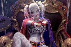 Harley Quinn Money Girl 4k
