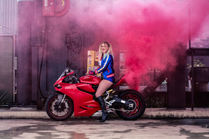 Harley Quinn On Ducati Cosplay