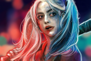 Harley Quinn Paint Art