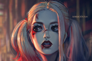 Harley Quinn Sketch Artwork
