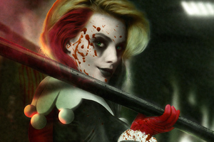 Harley Quinn The Blood Queen Wallpaper