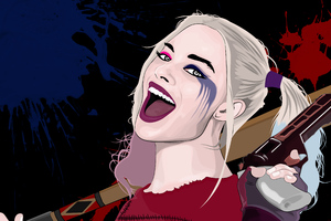 Harley Quinn Vector Portrait
