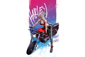 Harley Quinn Vroom Vroom Wallpaper
