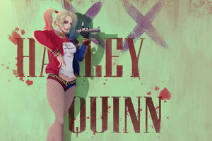 Harley Quinn Wall Wallpaper