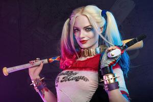 Harley Quinn X Margot Robbie 4k