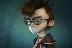 Harry Potter 3d Character Art 4k Wallpaper