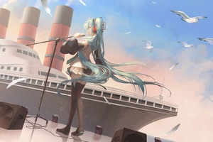 Hatsune Miku Anime Girl Wallpaper