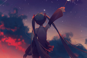 Hatsune Miku Anime Vocaloid Girl Wallpaper