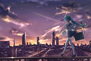 Hatsune Miku Anime Vocaloid Not Scared 4k Wallpaper