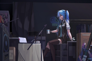 Hatsune Miku Blue Hair 5k