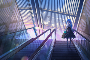 Hatsune Miku Escalator Wallpaper