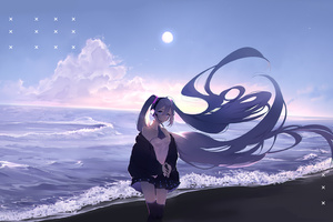 Hatsune Miku Long Hairs 4k Wallpaper