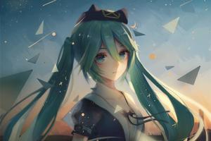 Hatsune Miku Vocaloid Anime 4k