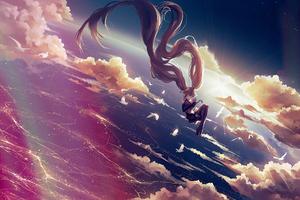 Hatsune Miku Vocaloid Float 4k