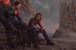 Hawkeye And Black Widow Wallpaper