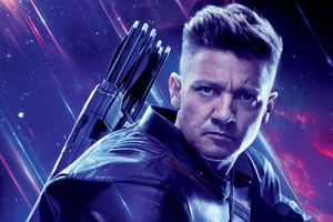 Hawkeye In Avengers Endgame Poster Wallpaper