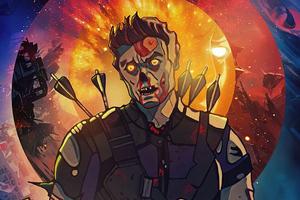 Hawkeye X Zombie What If 4k Wallpaper